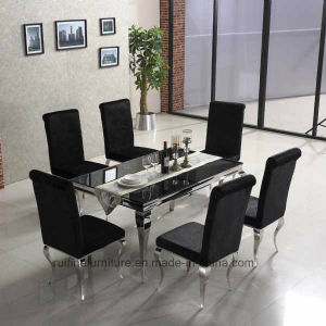 Dining Room Mirrored Modern Furniture Stainless Steel /Chinese Metal  Contemporary Home Furniture For Living Room