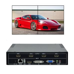 1X2 1X3 1X4 2X2 3X3 3X2 LCD LED 4K VGA HDMI Splicing TV Wall Video Wall  Processor Controller
