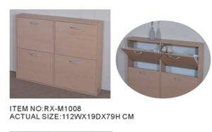 MDF Shoe Rack/Melamine Shoe Rack (RX-M1008)