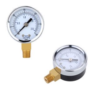 0~30psi 0~2bar Mini Pressure Gauge Dial Air Compressor Pressure Manometer Meter Hydraulic Pressure Tester Manometer Double Scale Pressure Measurer pictures & photos