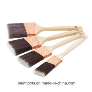 Angular Sash Brush with Wood Handle B024 pictures & photos