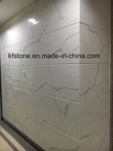 New White Marble Calacatta Wall Cladding Quartz Tile