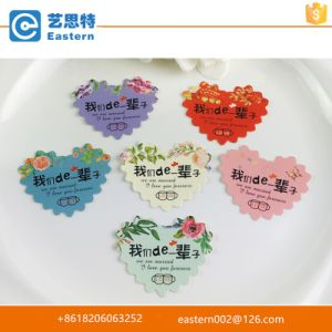 Bright Color Heart Shape Gift Hang Tags with Punched Hole