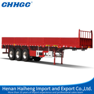Durable 3 Axles Light Duty Side Wall Semi Trailer