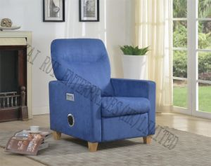 China Music Storage Multifunctional Modern Fabric Recliner Ottoman With Blue Tooth China Ottoman Chair