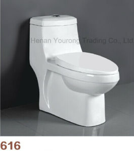 Siphonic Type One Piece Bathroom Toilet (No. 616)