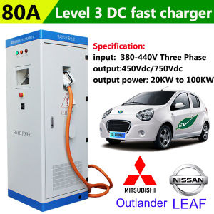 Nice 40kw 80A DC Super Fast Electric Car Charging Station