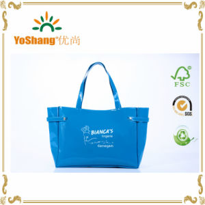 2016 Fashion Blue PVC Bag, Shiny PVC Bag for Shopping, PVC Beach Bag pictures & photos