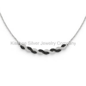 Hot Selling 925 Sterling Silver Necklace CZ Jewelry Necklace (KN3003) pictures & photos