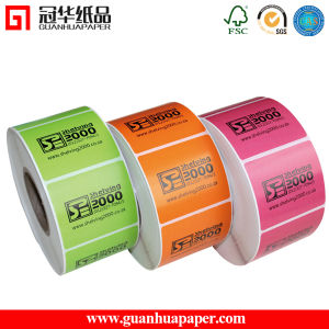 ISO 40mmx30mm Adhesive Label Roll pictures & photos