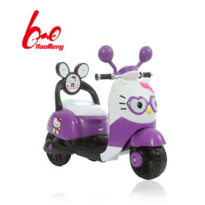 China Children Hello Kitty Electric Motorcycle With Music And Light