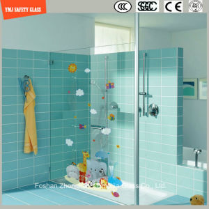 High Quality 3-19mm Digital Paint/ Silkscreen Print/Acid Etch/Frosted/Pattern Flat Tempered/Toughened Glass for Shower/Partition with SGCC/Ce&CCC&ISO pictures & photos