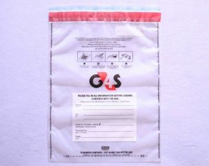 China G4s Clear Security Bag Tamper