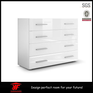 China Amazon Bedroom Furniture Modern White High Gloss Drawers Chest ...