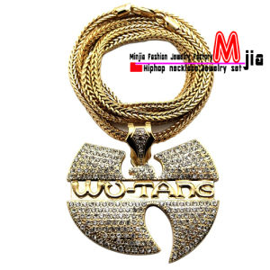 China gold plated new iced out wu tang pendant chain hip hop gold plated new iced out wu tang pendant chain hip hop necklace fmp868 aloadofball Images