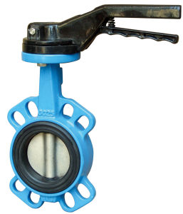Wafer Type Concentric Butterfly Valve with Teflon Seat pictures & photos