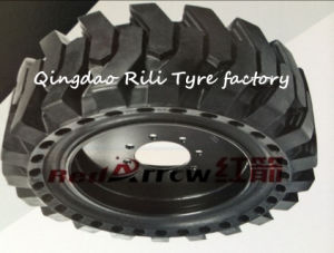 31*6*10 Solid Tire, Forklift Skid Steer Solid Tire for Single Bucket Excavator pictures & photos