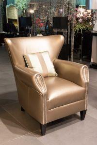 Excellent Crocodile Leather Accent Arm Chair Creativecarmelina Interior Chair Design Creativecarmelinacom