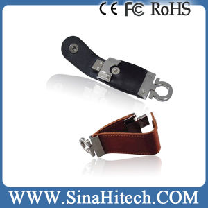 Logo Printed Leather USB Memory Flash Disk for Business Gifts