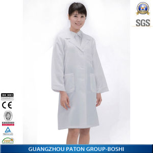 Custom Ladies White Hospital Medical Lab Coat pictures & photos