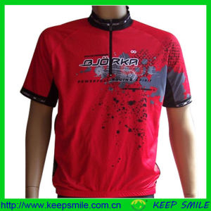 Customized Sublimation Printing Cycling Top with 1/4 Zipper pictures & photos