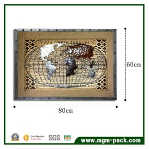 3D Handmade Metal Worldmap Painting for Decoration pictures & photos