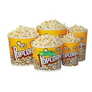 Custom Printed Disposable Paper Cinema Popcorn Tub Bucket