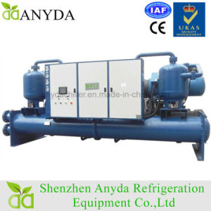 400 Ton Double Screw Compressor Flooded Type Evaporator Water Cooled Water Chiller