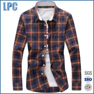82ebddb1ff6 China Mens Cotton Plaid Shirts Slim Fit with Turn-Down Collar ...