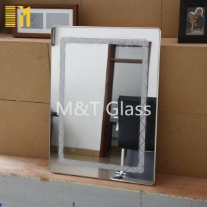 Rectangle Beveled Edge Silver Mirror with Safety Package From Factory