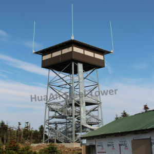 Hot Dipped Galvanized Self Support Steel Observing Tower
