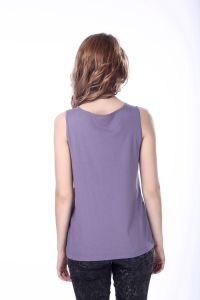 Women′s Cotton Sequined Fitness Tank Top pictures & photos