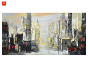 Abstract Architecture Oil Painting