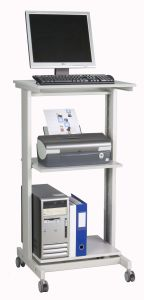 Twinco Click Workstation Adjustable Height Standing Desk Grey