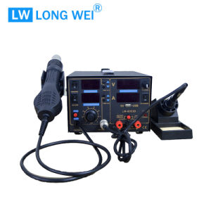 Lw8503D 3 in 1 Hot Air Gun with Soldering Station with DC Power Supply pictures & photos