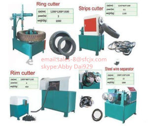Semi-Auto Waste Tyre Recycling Machine, Rubber Crusher