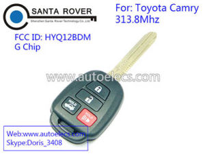 China Discount Keyless Replacement 4 Button Automotive Remote Key