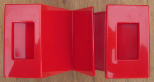 "a Letter ""M"" Metro Bank Red Plastic Money Box pictures & photos"