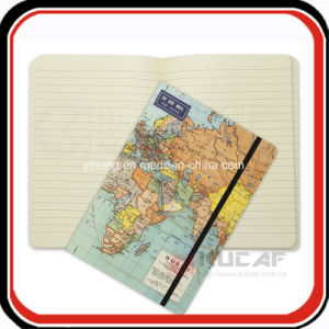 Custom Printing Hardcover Travel Journal Map Notebook pictures & photos