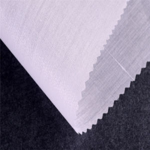 Hard Finish High Weight Woven Fusing Interlining Used as Canvas Support for Pants pictures & photos