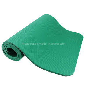 Custom Size Mat NBR Black Yoga Mat with Anti Slip Waterproof pictures & photos