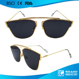 Novelty OEM Fake Designer Transition Tint Metal Sunglasses