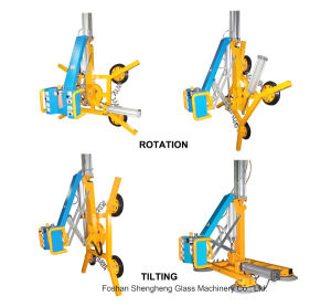 Rotating and Tilting Pneumatic Vacuum Lifter for Glass pictures & photos