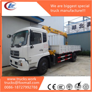 Dongfeng 4X2 Truck Chassis Mounted 5tons Crane pictures & photos