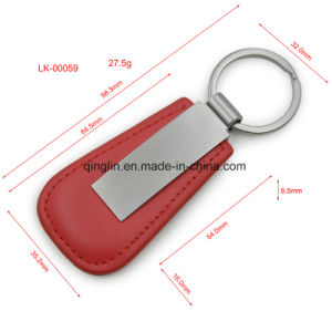 Simple PU Keychain with Metal Keyring