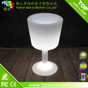 Beautiful Cup Design LED Cube Ice Bucket
