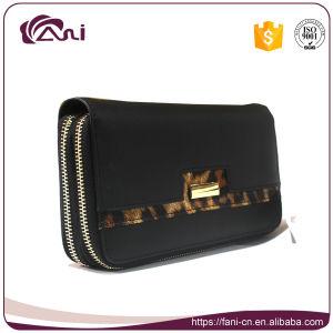 2a1ecab60838 China Black Color PU Double Zipper Wallet for Women