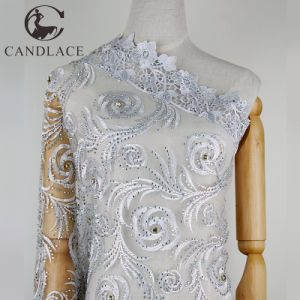 China New Arrival White Net Fabric Embroidery Lace For Party Cloth