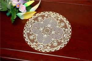 Cheap 30cm Round Lace Gold PVC Tablemat Popular Use Coffee/Home pictures & photos