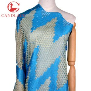 Candlace Textile Turkey Blue Dress Lace Fabric Embroidery pictures & photos